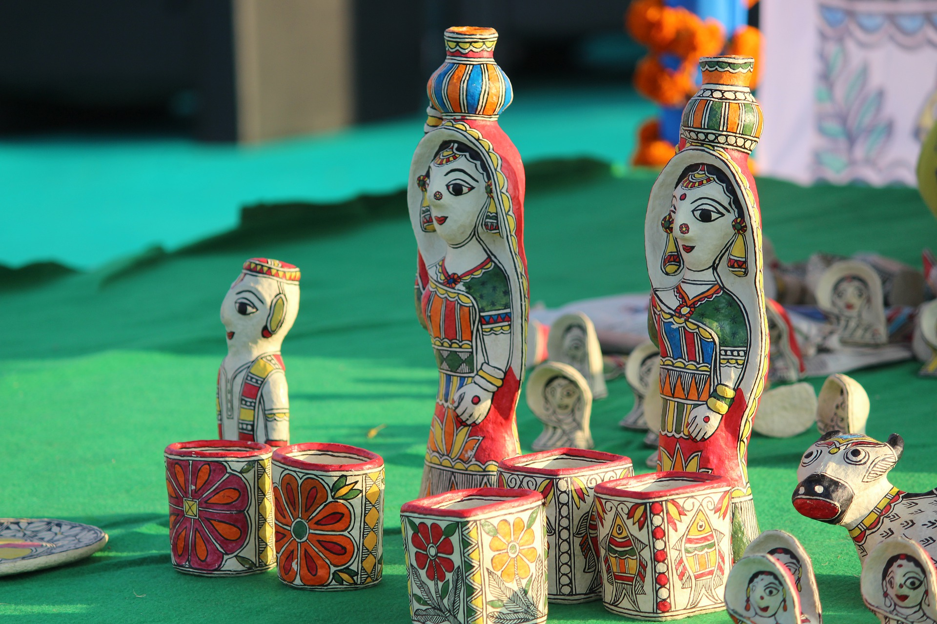 Decorative Colorful Figurines made in India
